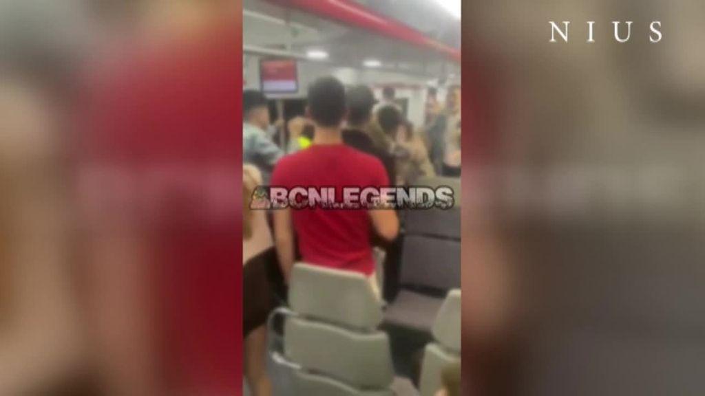 Trifulca entre jóvenes que volvían de fiesta y vigilantes de seguridad en un tren