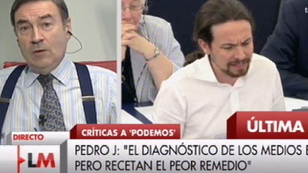 """Pedro J. Ramírez está de acuerdo con """"el diagnóstico"""" de Podemos cree que sus remedios son """"contraproducentes"""""""