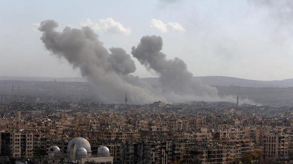 Bombardeos en el barrio de Tariq al Bab