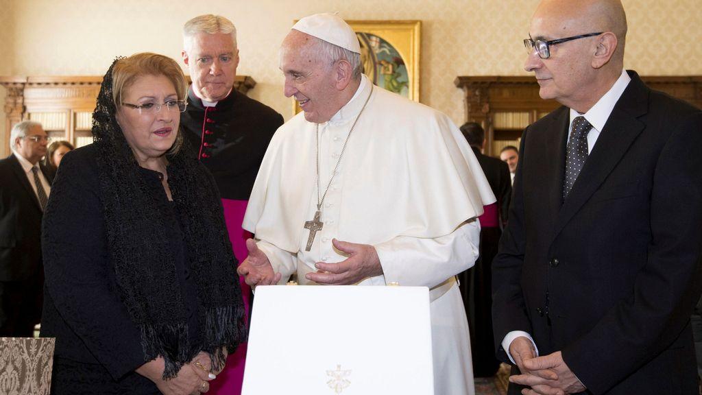 El papa Francisco junto con el presidente de Malta