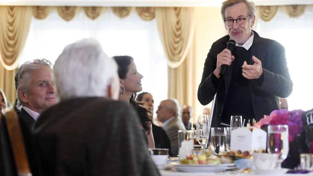 Steven Spielberg en la fiesta centenaria de Kirk