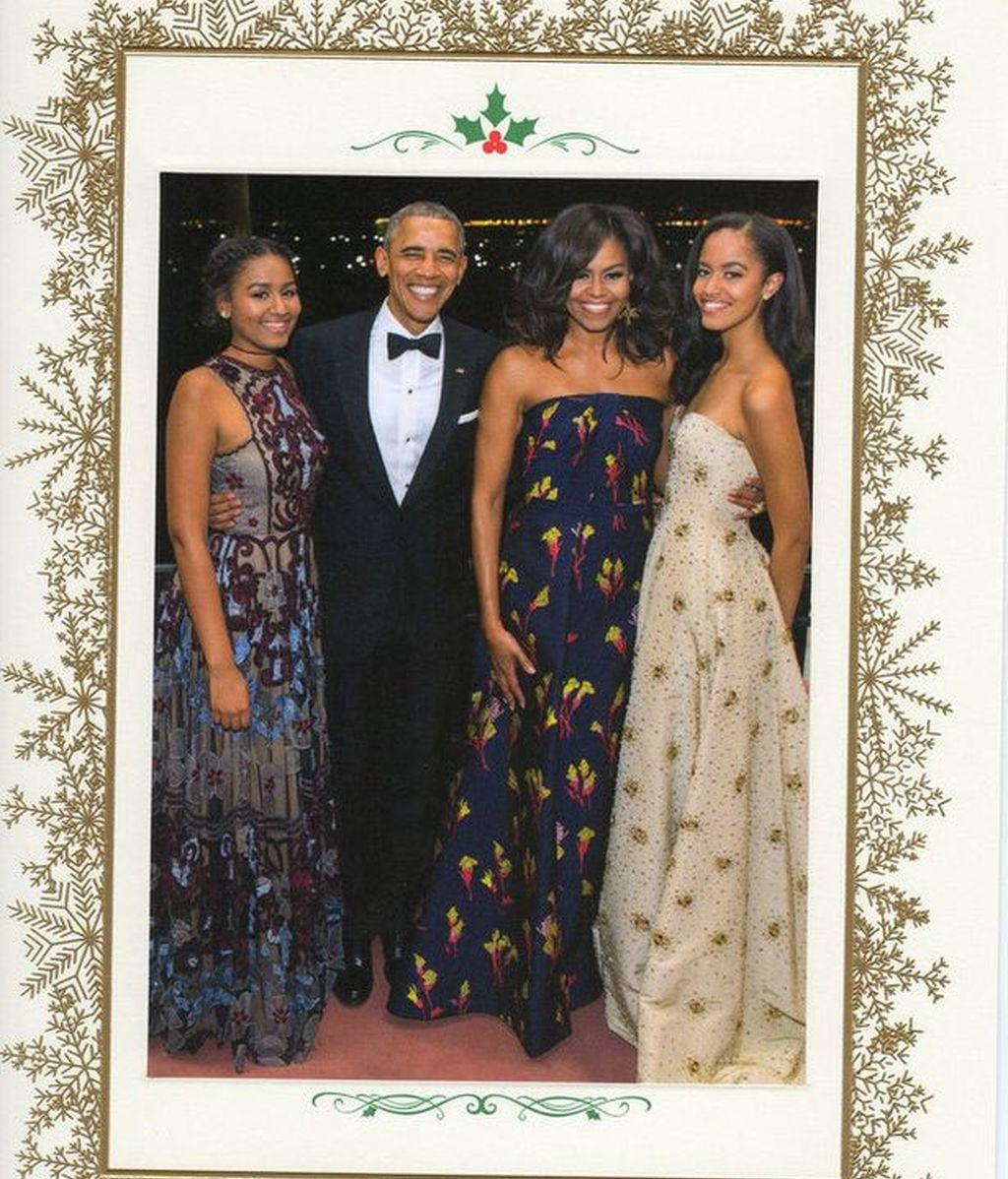 Tarjeta de Navidad de los Obama