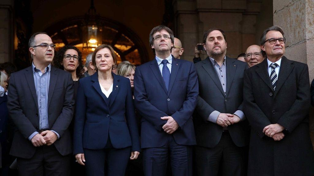 Forcadell, Puigdemont, Junqueras y Mas