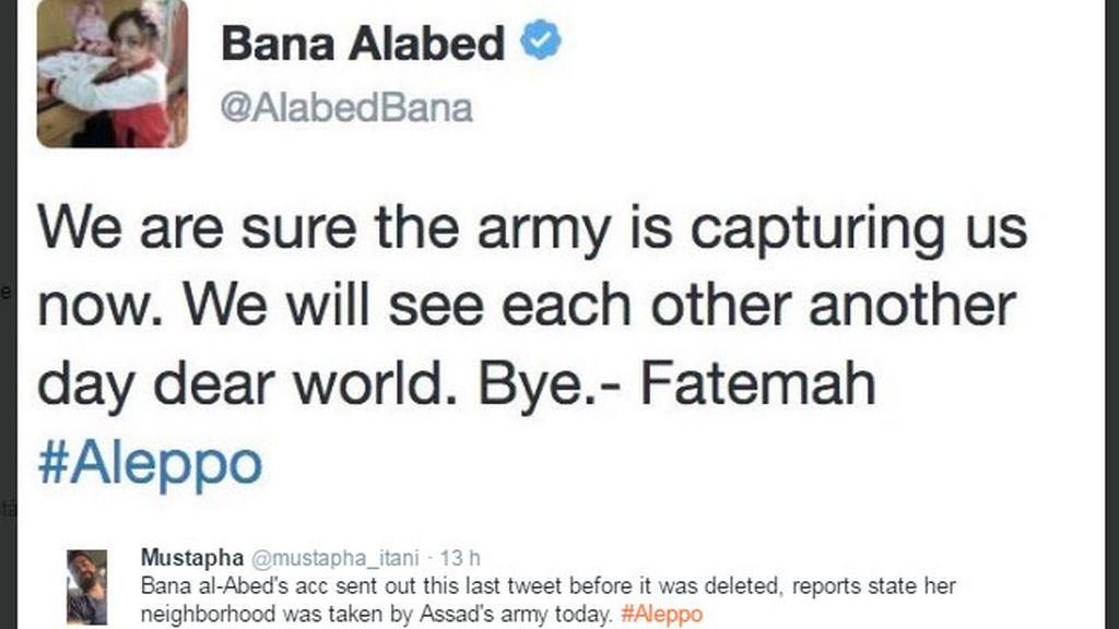 Bana Alabed, niña siria, niña tuitera Alepo