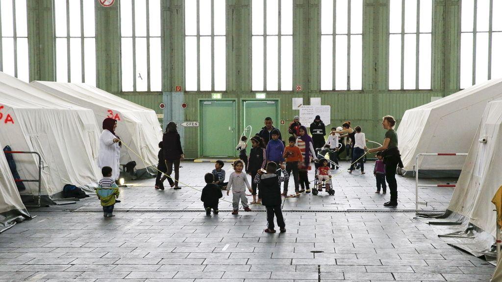 Centro de acogida de refugiados en Berlín