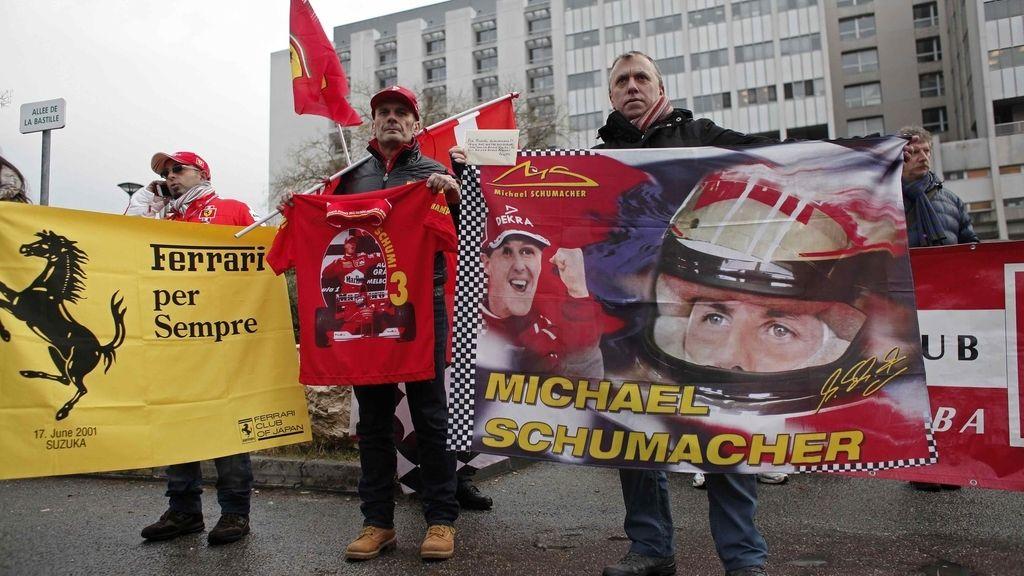 Aficionados que apoyan a Michael Schumacher