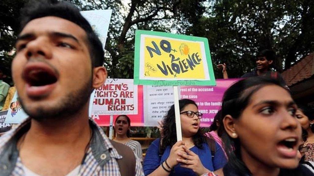 Protestas en la India contra la violencia