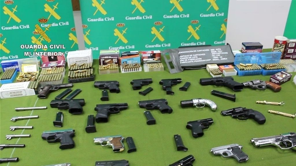 Armas incautadas por la Guardia Civil