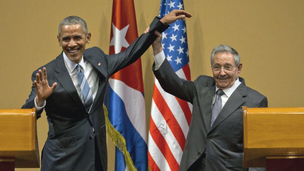 Barack Obama y Raúl Castro en su visita a Cuba