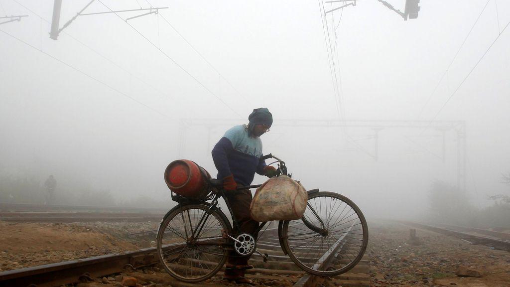 La niebla, protagonista también en India