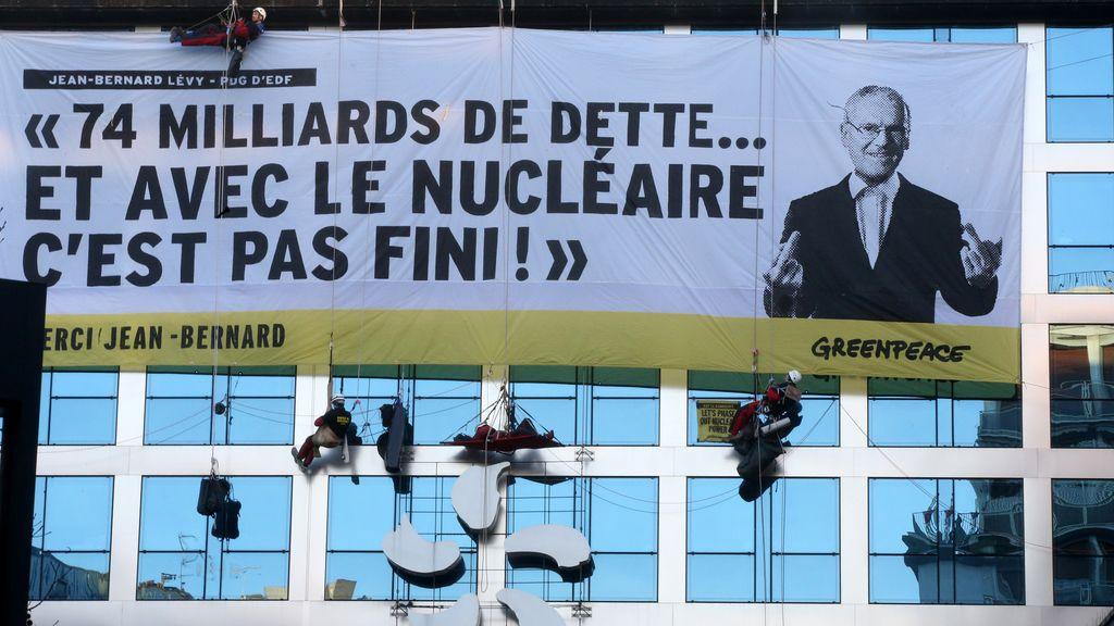 Protesta de Greenpeace en París