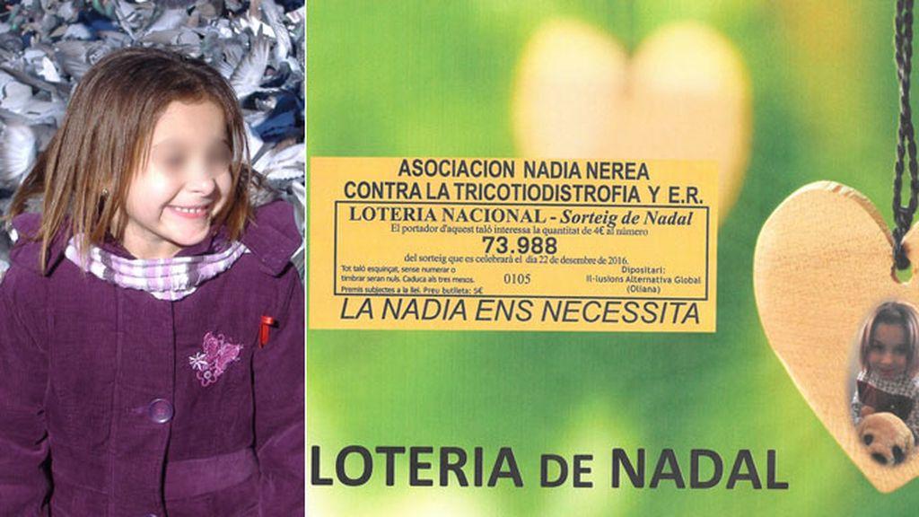 Intervienen el donativo de la lotería de Navidad de la Asociación Nadia