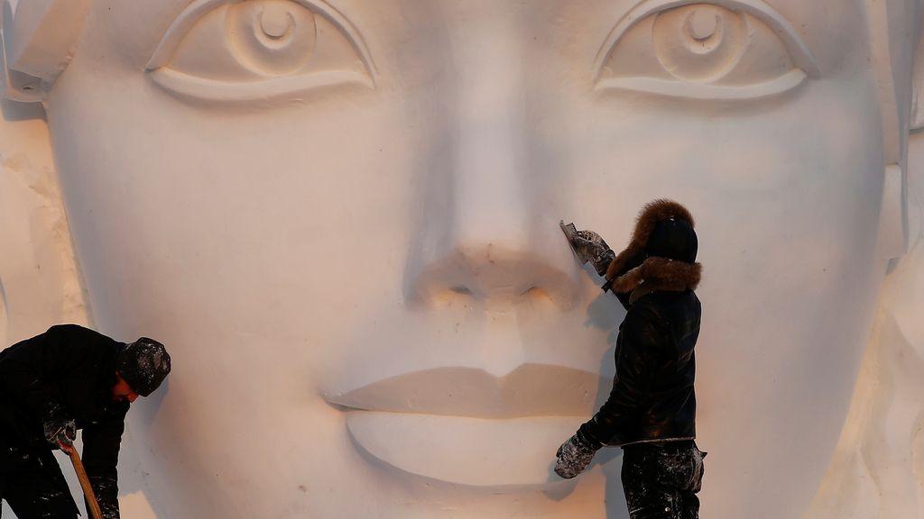 Arte efímero en el Festival de esculturas de nieve en China
