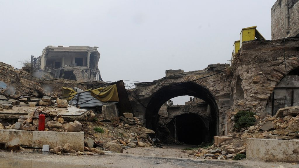Alepo, una ciudad fantasma en ruinas