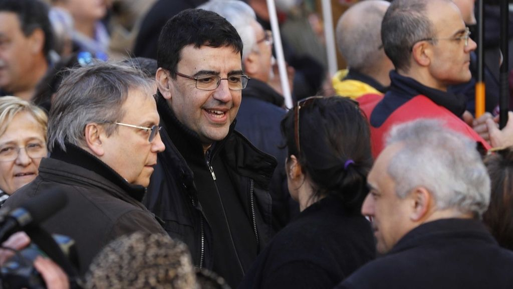Mario Jiménez en la manifestación convocada en Madrid por UGT y CCOO