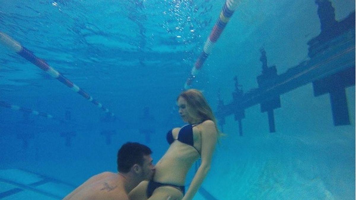 Rylan Lochte y Kayla Rae Reid anuncian su embarazo bajo el agua