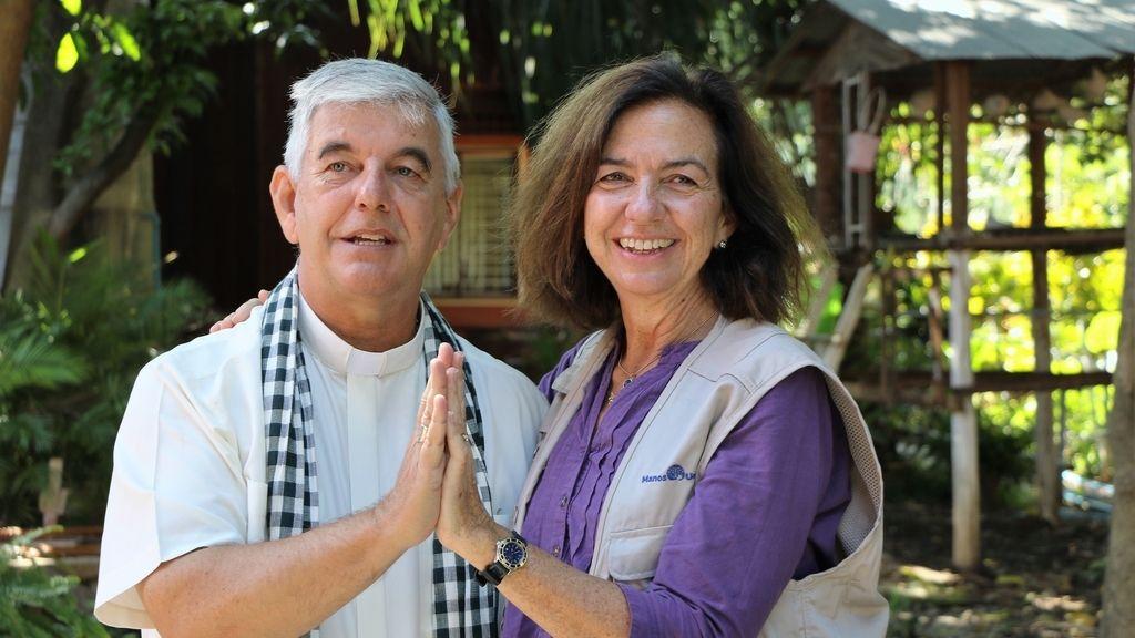 Kike Figaredo y Clara Pardo, presidenta de Manos Unidas