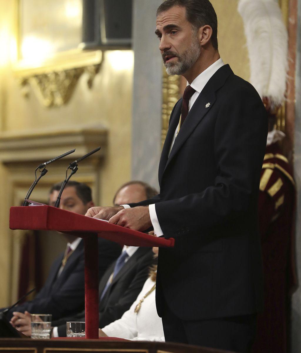 Felipe VI durante la apertura solemne de las Cortes