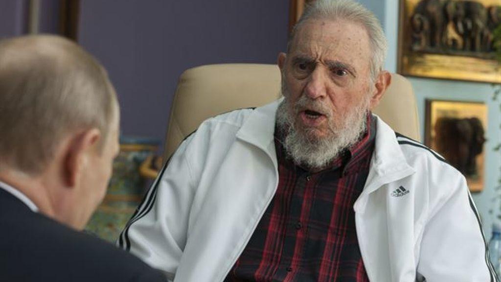 Fidel Castro reaparece con motivo de la visita de Vladimir Putin