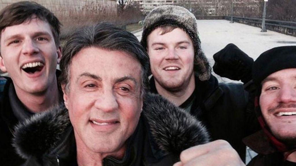 El selfie más épico con Sylvester Stallone