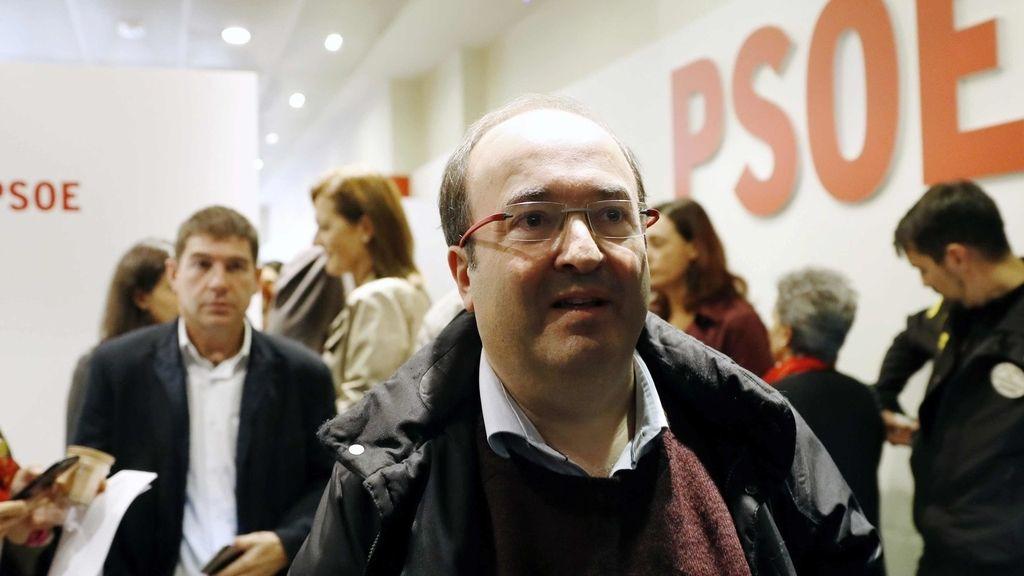 Miquel Iceta a la salida del Comité Federal del PSOE