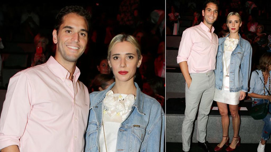 Lulu Figueroa y Adrian Saavedra en el desfile de 2sn Skin