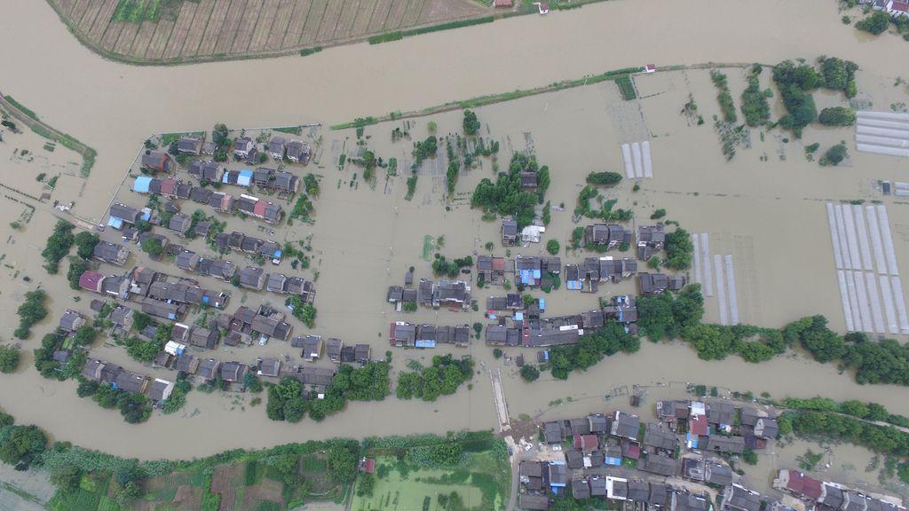 Las inundaciones marcan a China
