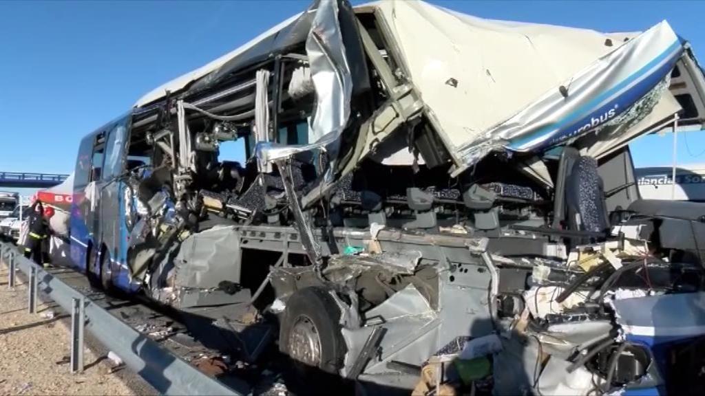 Grave accidente de autobús en Adradas, Soria