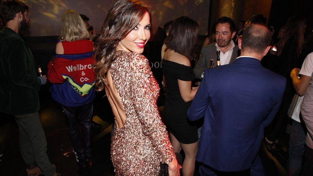 Paloma Lago apostó por el glitter para esta Nochevieja anticipada