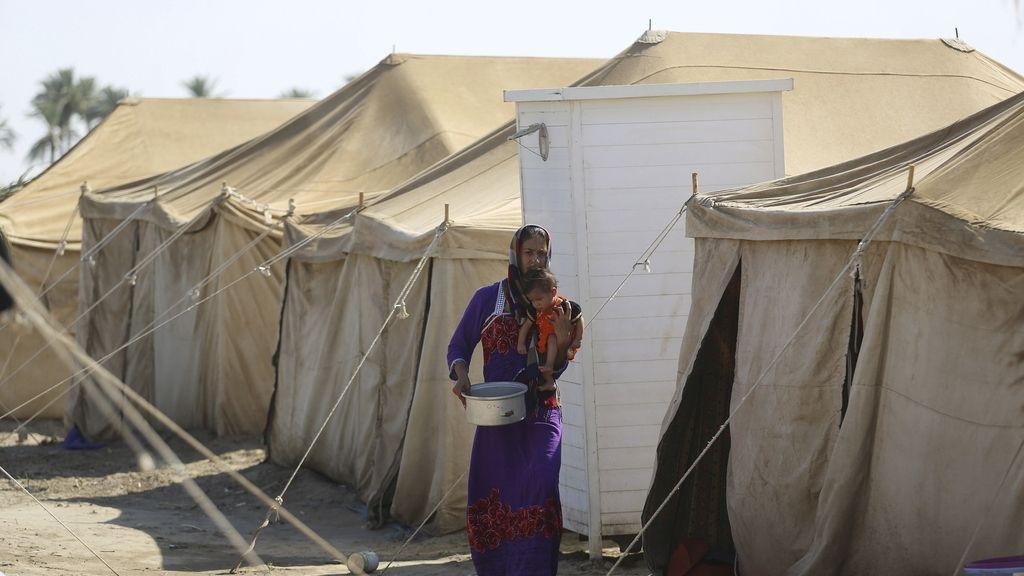 Campo de refugiados en Iraq