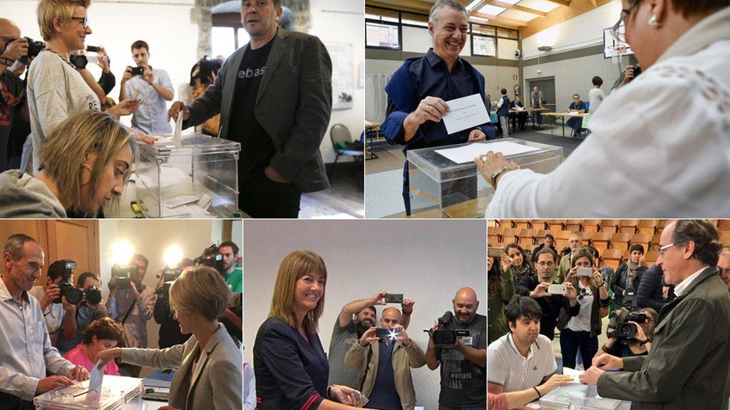 Candidatos vascos votando 2016