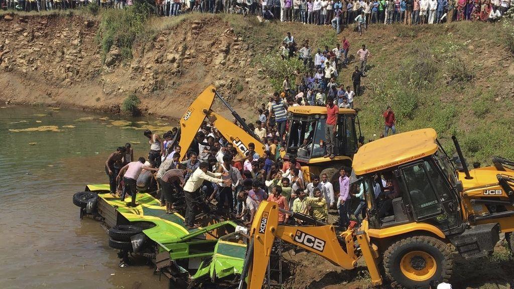 Accidente de autobús en la India