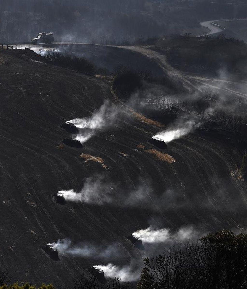 Incendio en Tafalla, Navarra, que afecta a cerca de 3.000 hectáreas