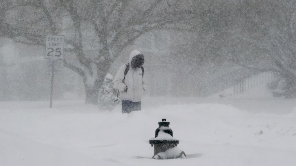 Al menos 14 muertos durante las tormentas de nieve en EEUU