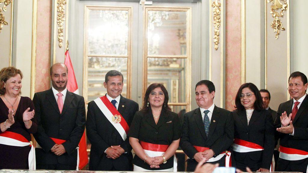 La primera ministra de Perú, Ana Jara, y le presidente Humala