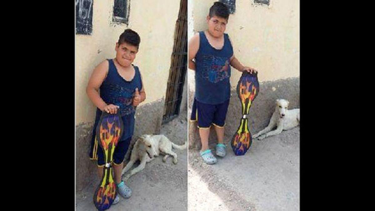 anuncio niño en Facebook,vende patinete,Mauco niño solidario