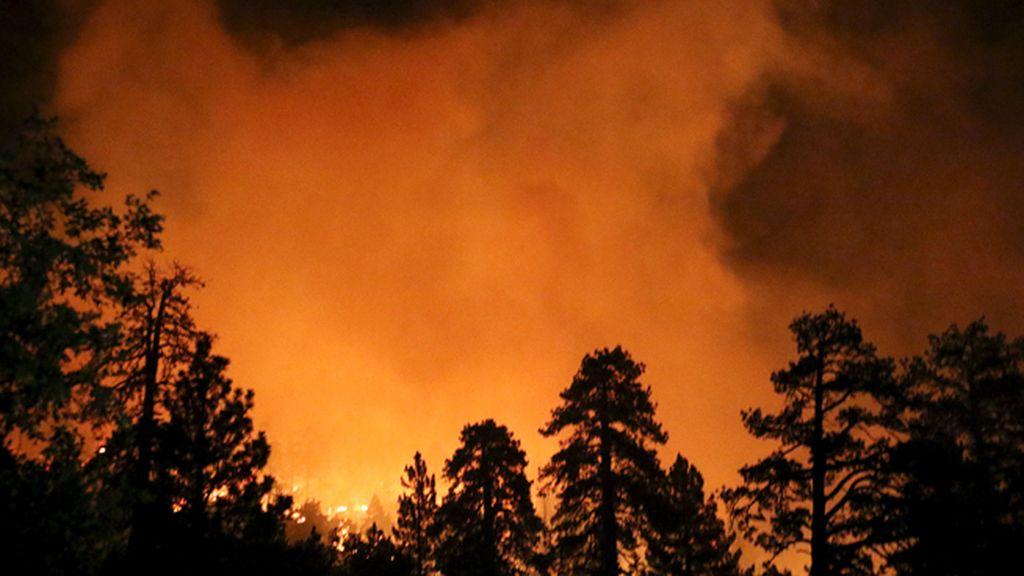 Centenares de campistas evacuados por el incendio forestal de California