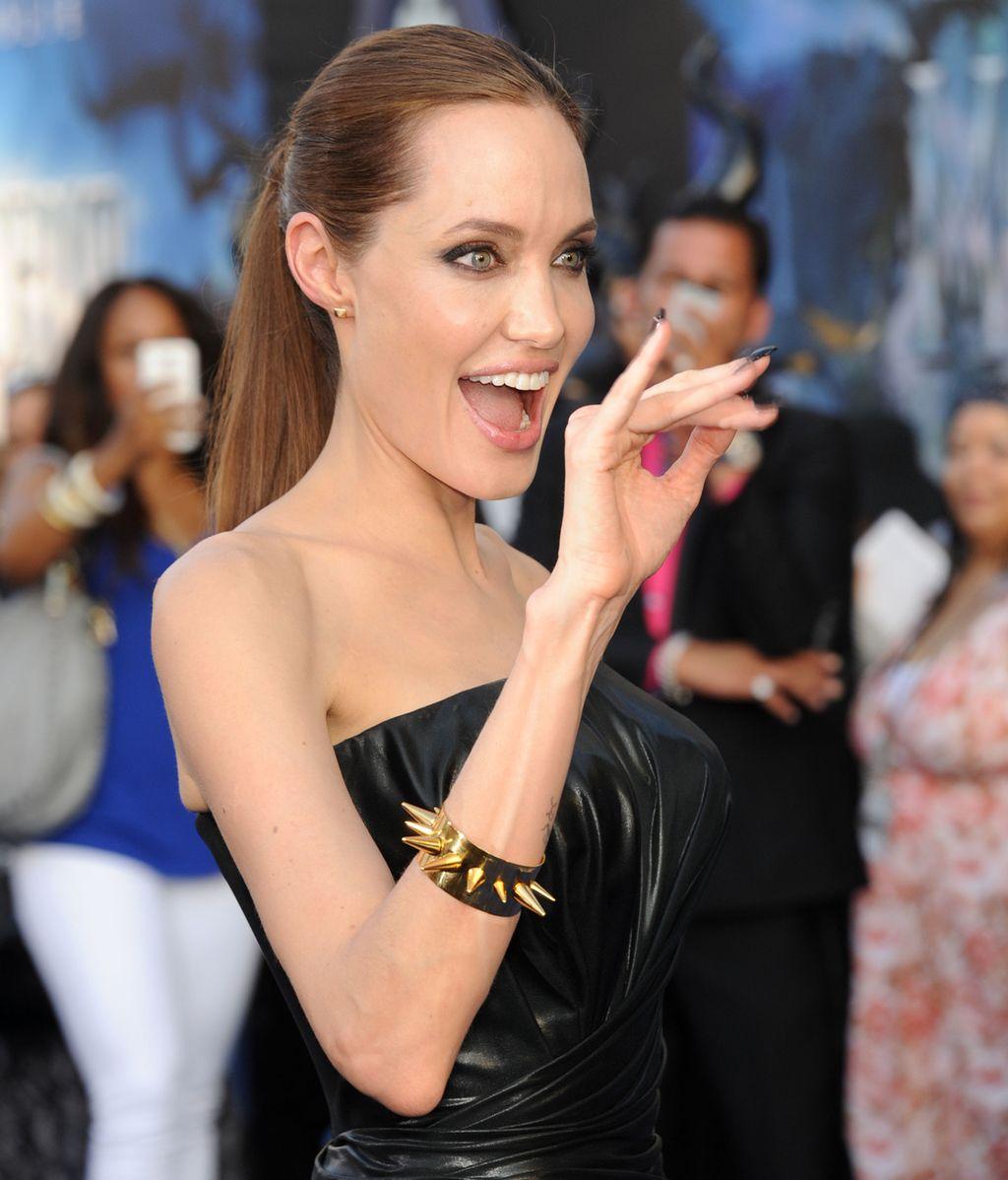 Angelina Jolie, exultante en la 'premiere'