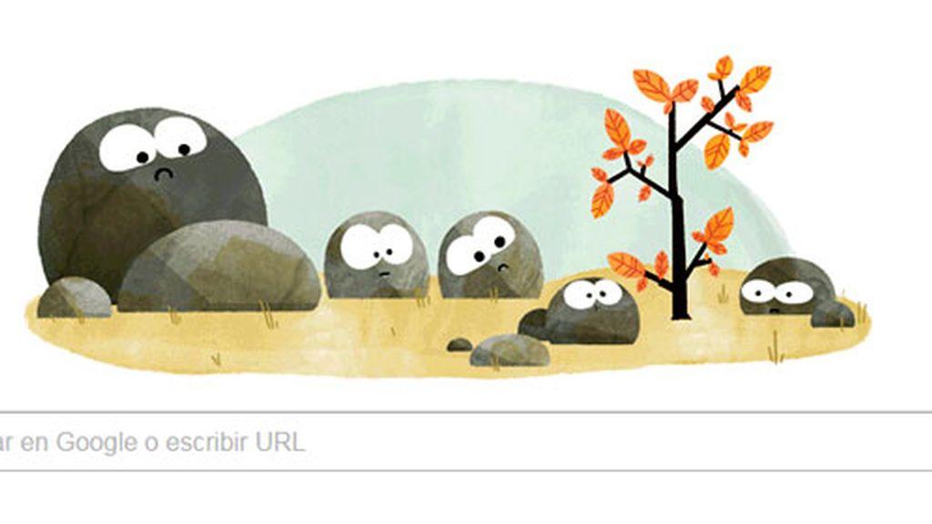 doodle google otoño, otoño google