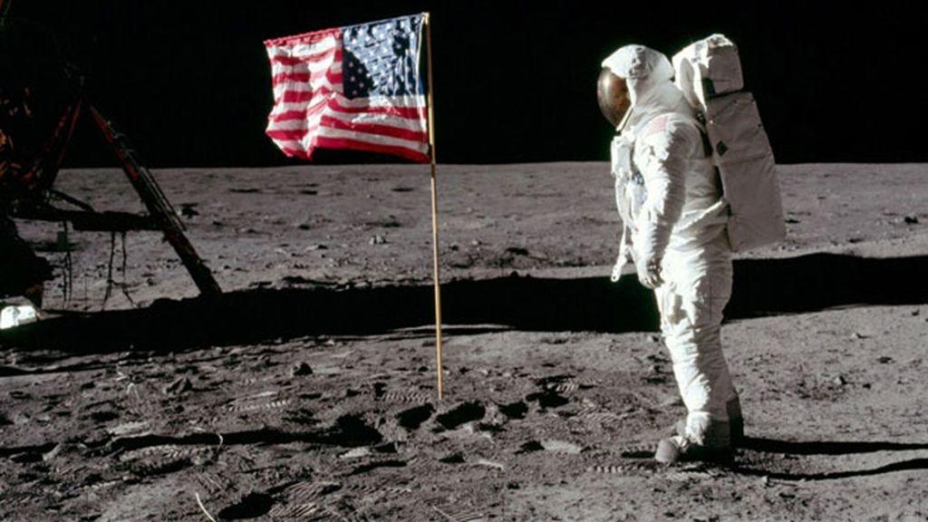 Reproducción de la NASA de la llegada de Amstrong a la Luna