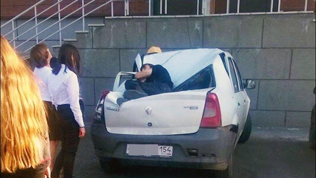 Accidente sobre un coche