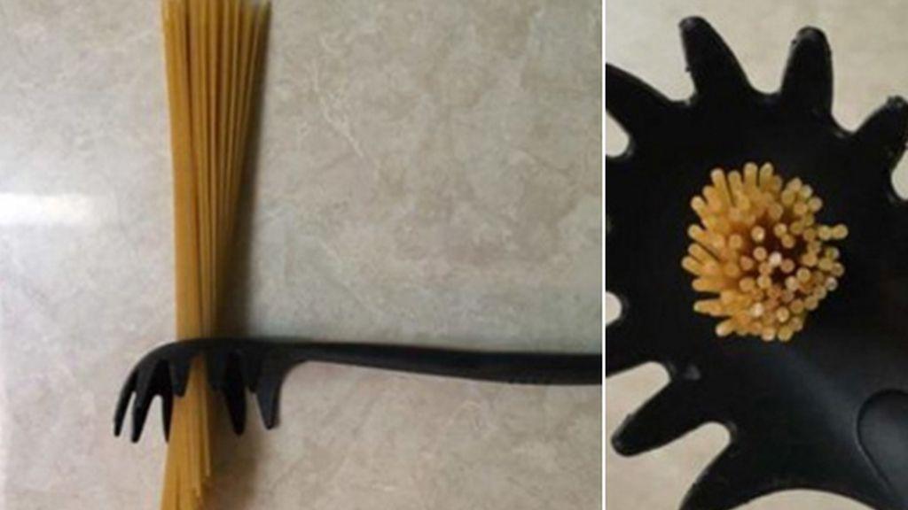 Agujero utensilio para spagetti