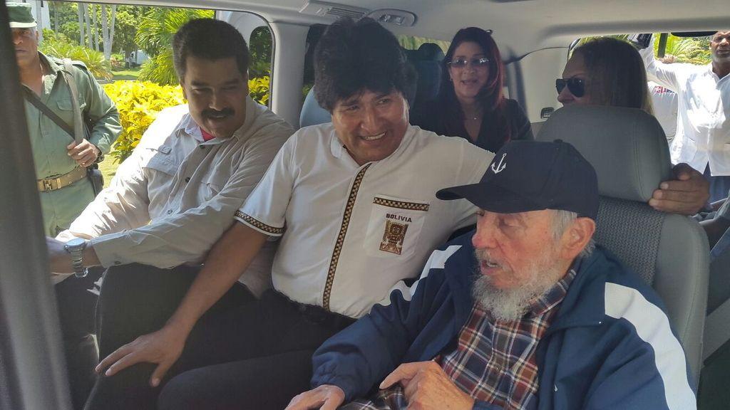 Fidel Castro celebra su 89 cumpleaños junto a Maduro y Morales