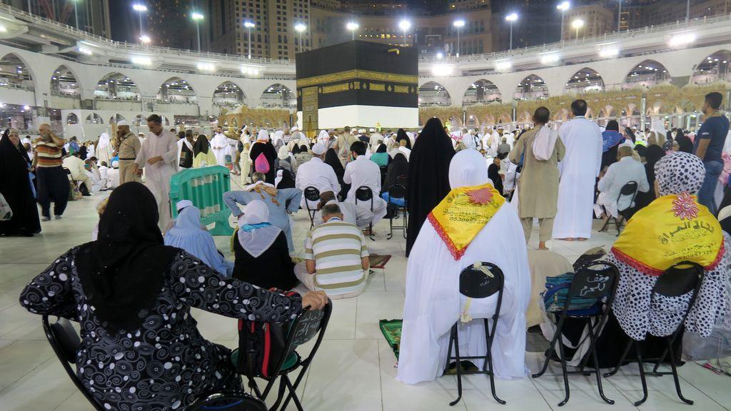 La Gran Mezquita en La Meca en Arabia Saudí