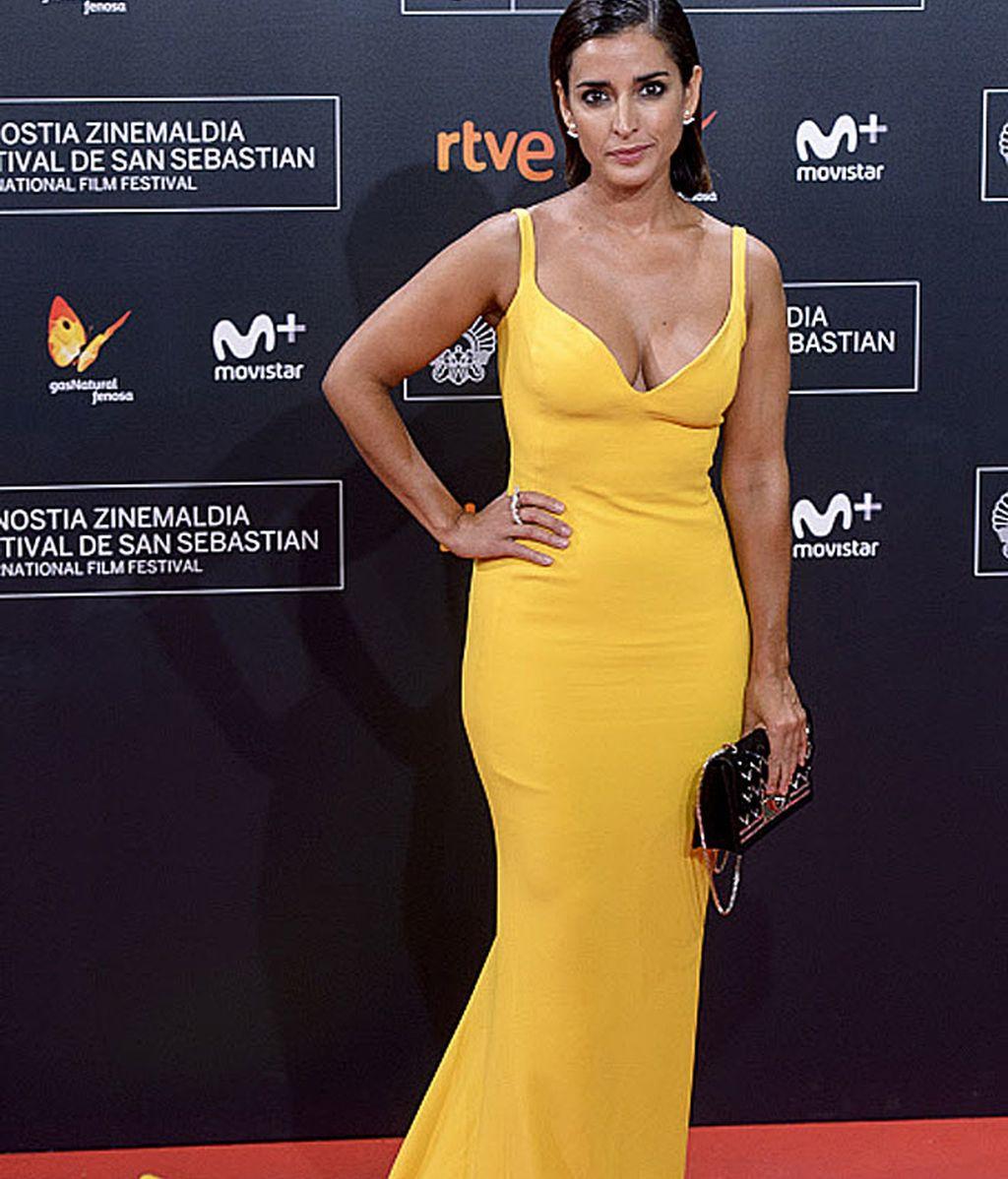 Inma Cuesta lució este maravilloso vestido amarillo