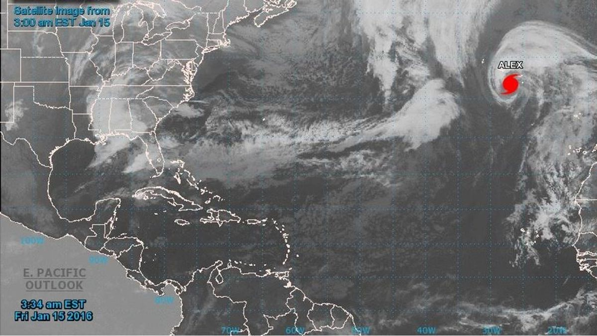 El huracán Alex