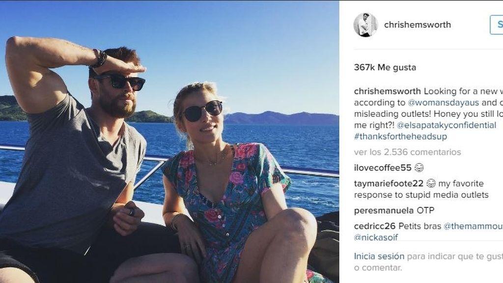 Chris Hemsworth y Elsa Ptaky tras los rumores de su ruptura