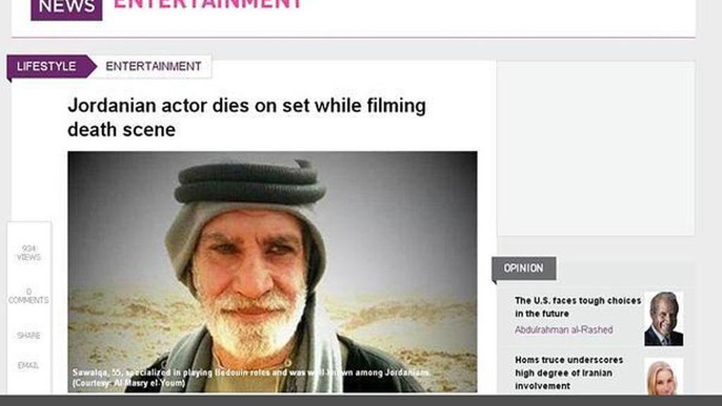 Fallece un actor jordano durante el rodaje de una escena en la que debía morir