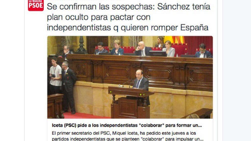 Polémico tuit del PSOE de Castilla La Mancha