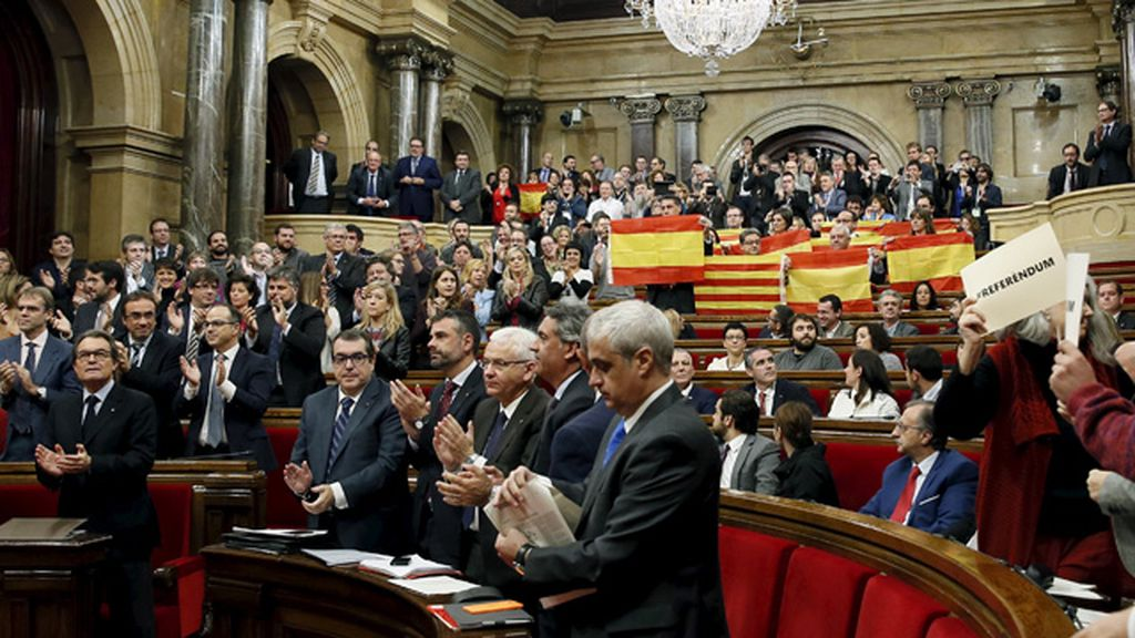 El Parlament aprueba la declaración soberanista